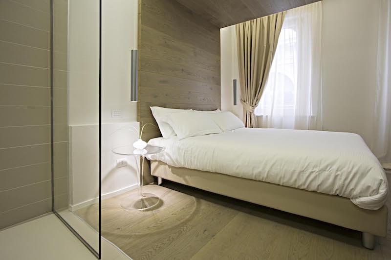 vojagon Borgoleoni18 bedroom doccia shower stanza da letto