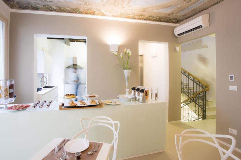 Vojagon Borgoleoni18 sala colazione breakfast sala comune living room