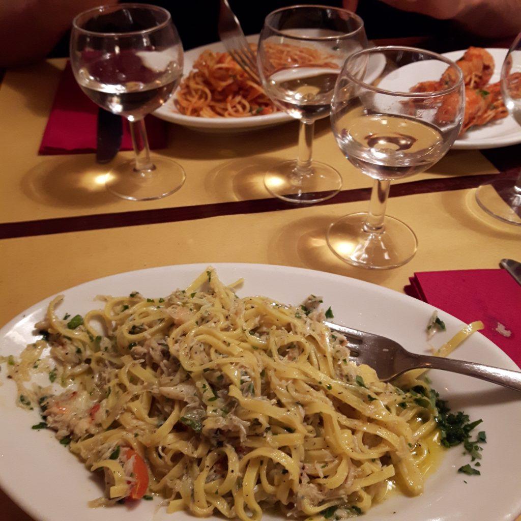 Vojagon mangiare a venezia linguine alla busara spaghetti alla granseola