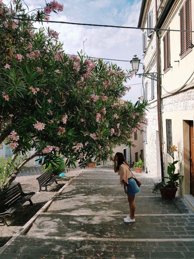 la costarella borgo di numana marche italia conero vojagon