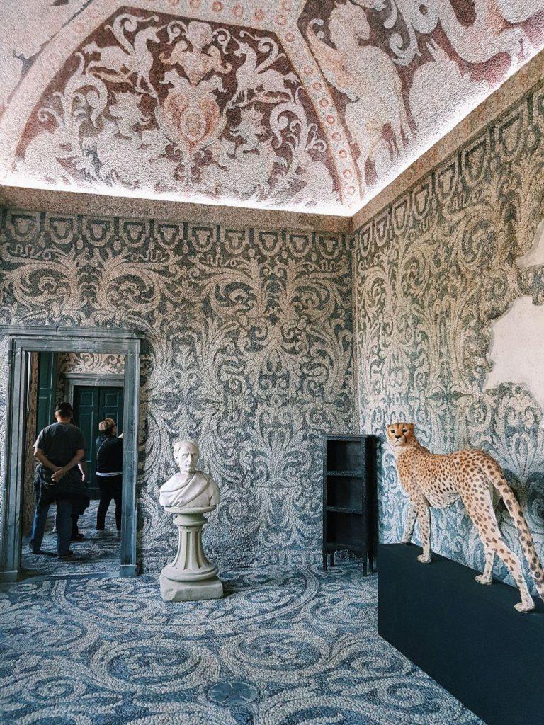ninfeo di villa litta vojagon lainate mosaici interno mostra
