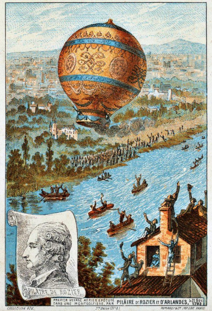 l primo volo di un essere umano 19 settembre 1783